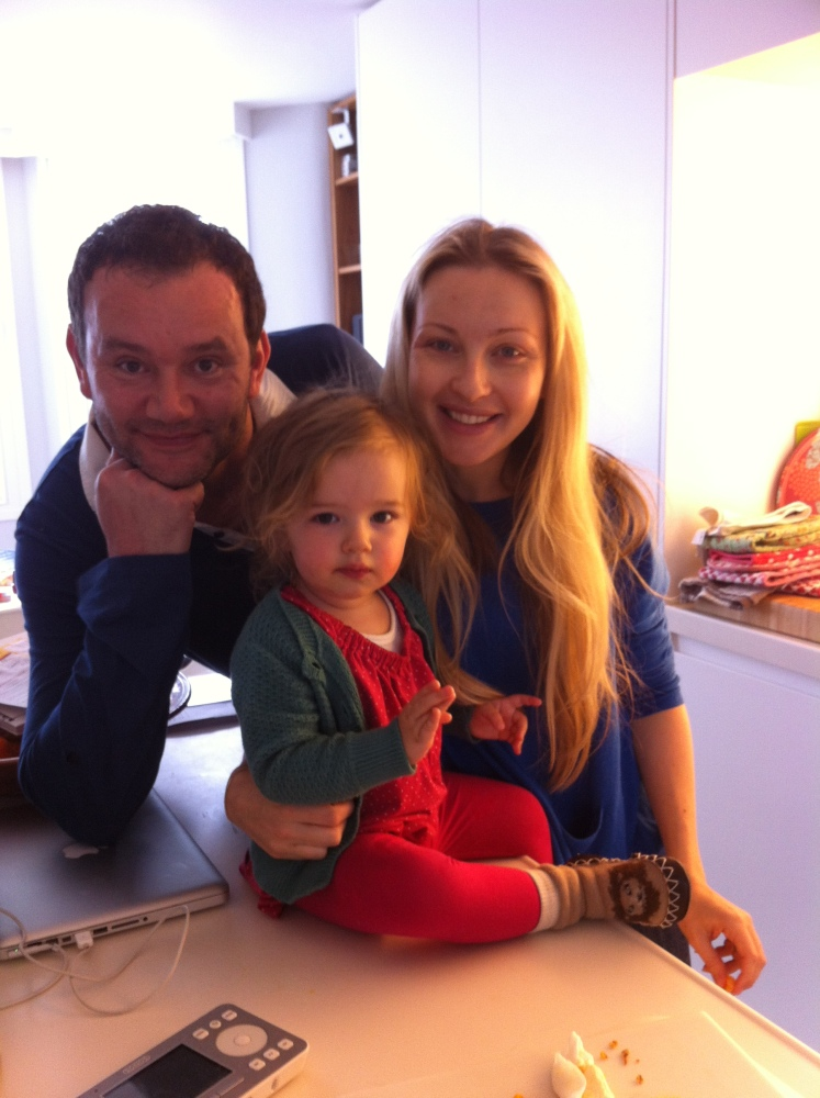 Oliver and Becky Dennis with their daughter Hope